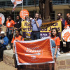 Wash U. adjunct professors, students hold victory rally to celebrate new contract