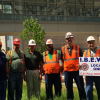 IBEW Local 1 job stewards receive a tip of the hat for work on BJC project