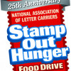 Letter Carriers' 25th annual 'Stamp Out Hunger' food drive May 13