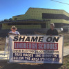 IBEW Local 1 bannering new Lindbergh School District administration building