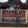 Failing grade: IBEW 1 bannering Lindbergh Schools over use of non-union electrical contractors