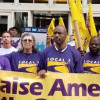 Centaur janitors, joined by SEIU Local 1, faith and community allies march, rally in Clayton for good jobs, higher wages, union rights
