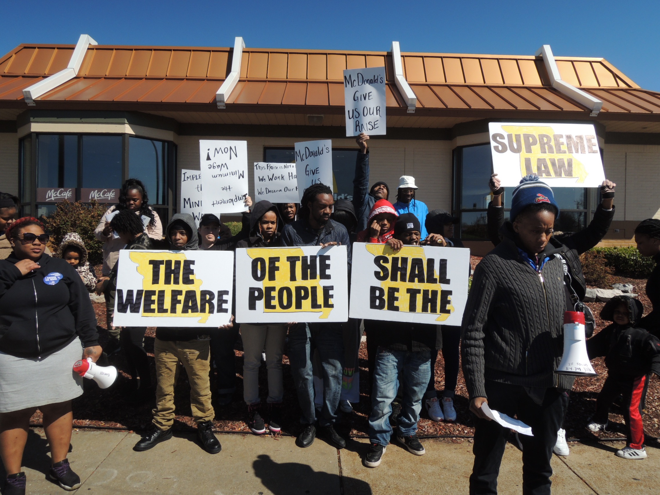 st louis low wage workers call for raise while legislature tries raise the wage low wage workers organized by show me 15 protested outside a mcdonalds on natural bridge road recently for st louis 10 minimum wage to