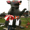 Anti-worker, Republican state rep. harasses union members on picket line