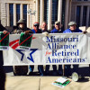 Retired union members protest TPP
