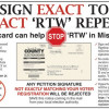 Citizens Referendum petition to enact 'RTW' repeal must be signed EXACTLY as you are registered to vote