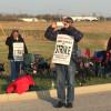 Holten Meat strikers begin 24-hour picketing