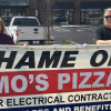 IBEW Local 1 banners two Warrenton businesses