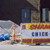 Bricklayers Local 1 bannering new Chick-Fil-A on Hampton Ave.