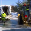 Union utility workers spend hours in the cold fixing broken water mains