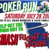 Bricklayers hosting all-union SMASH RTW poker run July 28