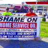IBEW Local 1 banners, handbills Festus Phillips 66