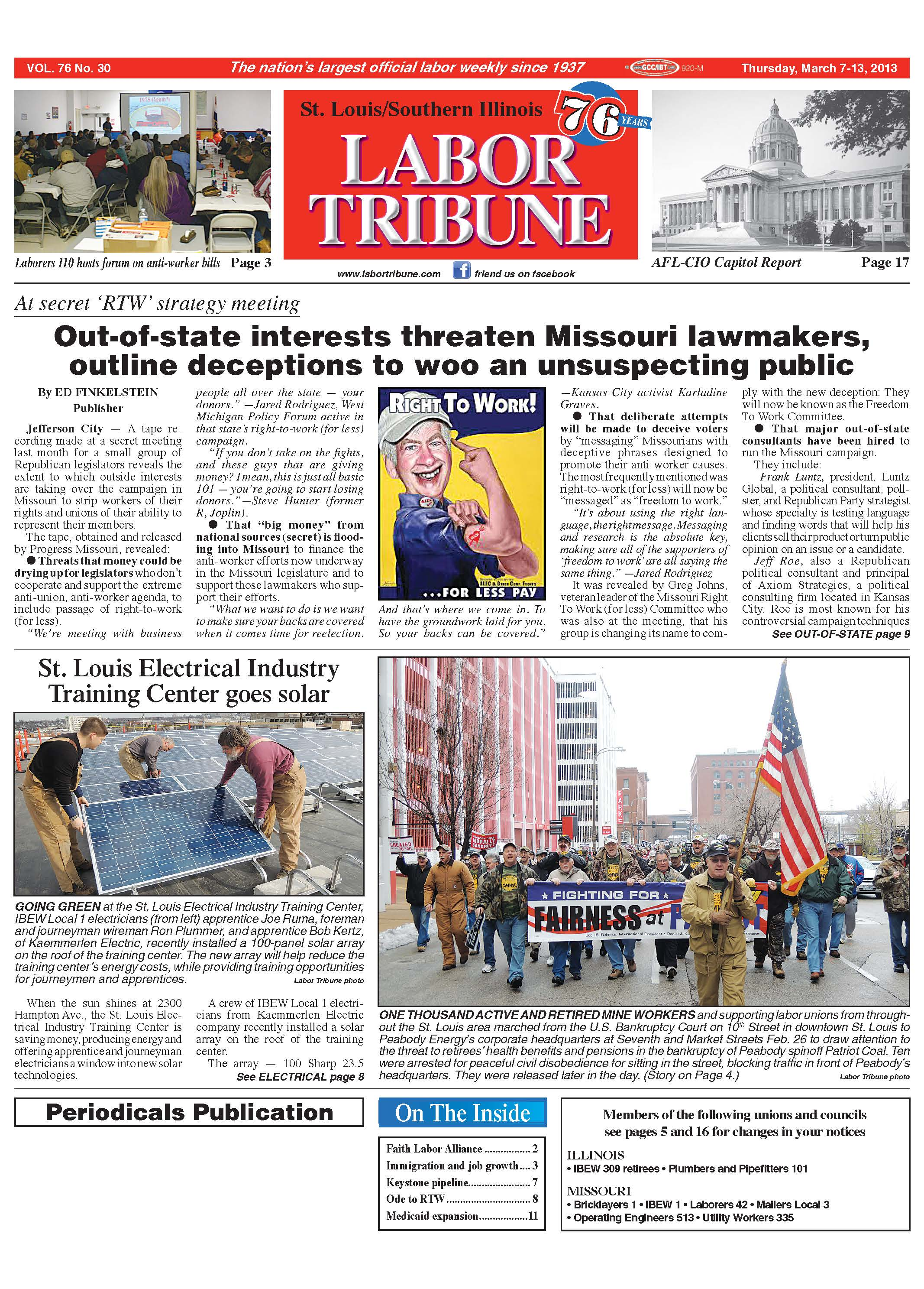 The Labor Tribune | Published Weekly Since 1937