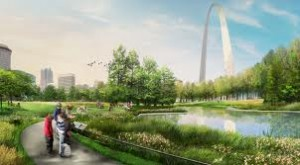 Artist rendering of the improved Arch grounds.