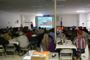 GETTING INFORMED: More than 100 people from all walks of life turned out to learn about right-to-work (for less), prevailing wage and paycheck deception at a forum in March at Laborers Local 110's union hall.
