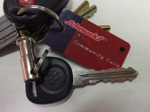 KEY CHAIN REMINDER is part of the Schnucks Community Care Card. It conveniently snaps off the card and can be attached to your key chain so it's always with you when you buy groceries. Just show it to the cashier when you check out.