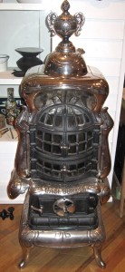 MADE IN BELLEVILLE: This elaborate gas parlor heater was made in Belleville by Orbon Stove