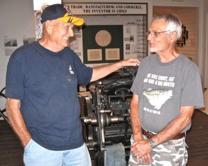 MUSEUM VOLUNTEERS Don Schmeder (left) and Mike Hutsch are looking forward to larger crowds when its new building opens.