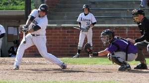 BATTER UP! Mike Failoni, a member of Laborers Local 397 in Madison County hit a .500 for the Lindenwood University Lions in St. Charles this season.