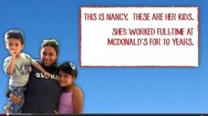 "'McRESOURCES' OUTRAGEOUS: A still from the video McResources ""Help"" Line, produced by Low Pay Is Not OK, an advocacy group for low-wage fast food workers."