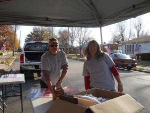 WELCOME HOME: IBEW Local 1 member Rodney Cook and his wife, Gretchen, preparing their first welcome home for a returning veteran. – IBEW Local 1 photo
