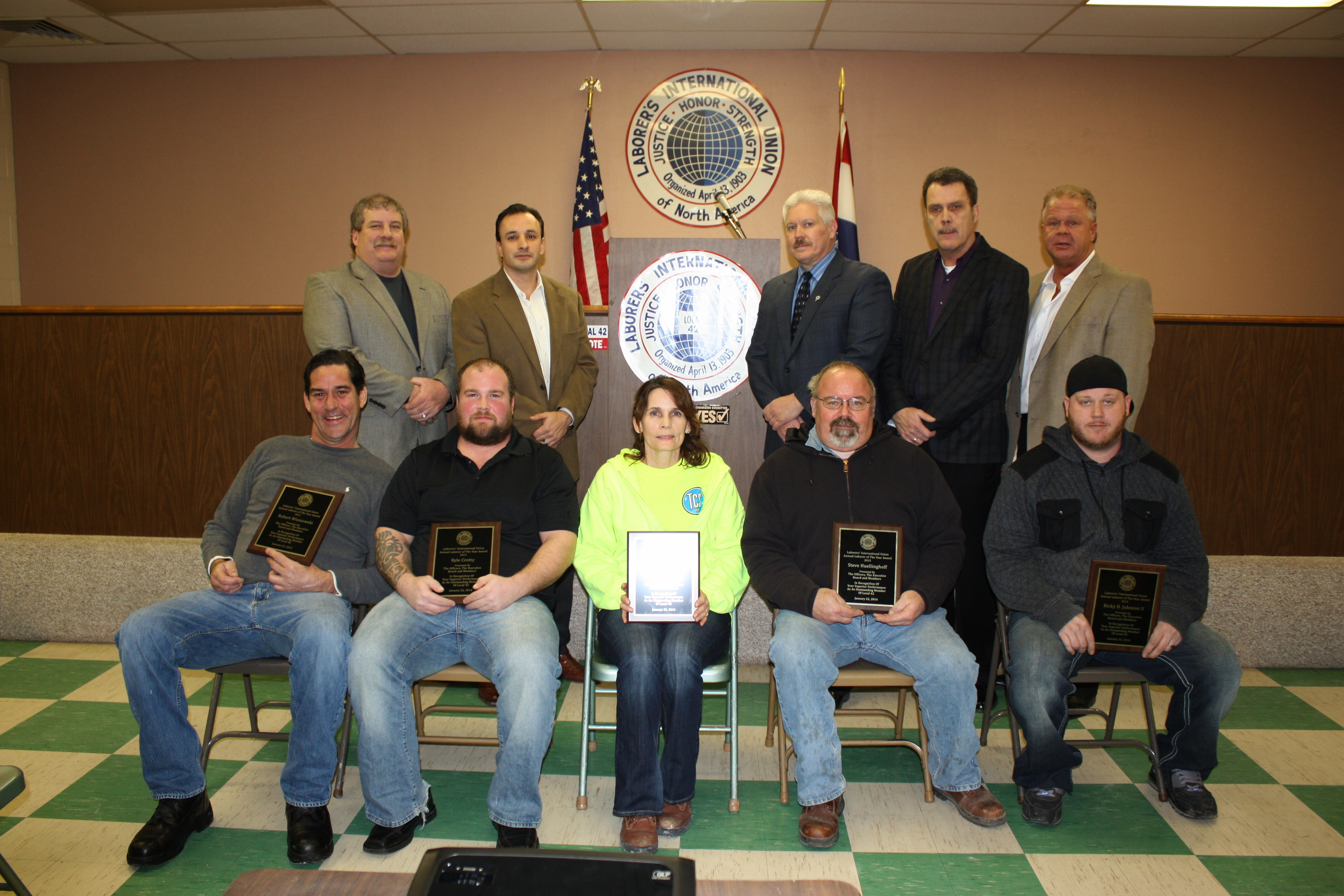 Laborers 42 Laborers of the year