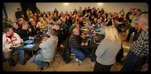 A STANDING-ROOM ONLY CROWD packed the Tri-County Labor Club meeting recently  to learn about anti-worker legislation being considered in Jefferson City. Labor Tribune photo
