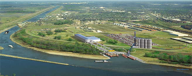 AMERICA'S CENTRAL PORT in Granite City has an annual economic impact of more than $282 million and supports 1,450 direct and indirect jobs with more than $70 million in total labor income. – Geotechnology Inc. photo
