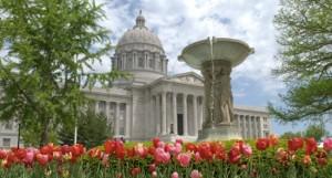 The MIssouri Capitol Building in Jefferson City