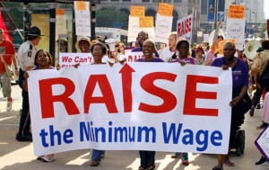 RAISE ILLINOIS supporters back raising the states minimum wage to $10.65 an hour from the current $8.25.