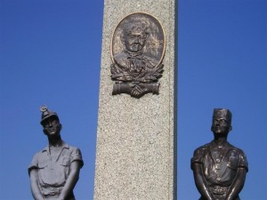 THE MOTHER JONES MONUMENT at Union Miners Cemetery in Mt. Olive, IL. – Labor Heritage Foundation photo