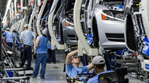 WORKERS ASSEMBLE Volkswagen Passat sedans at the German automaker's plant in Chattanooga, Tenn.  – Erik Schelzig/AP photo