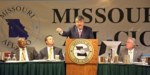 Trumka addressing convention