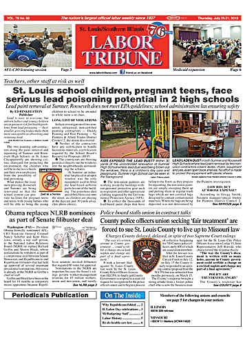 Lead Poisoning Front Page