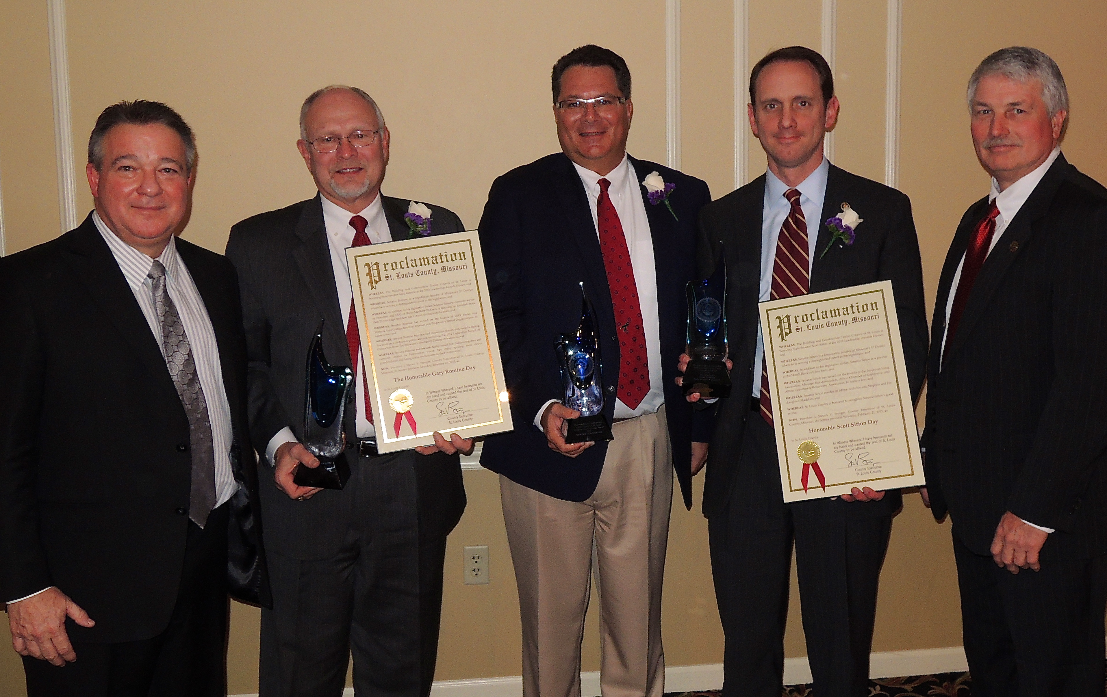 Building Trades honorees