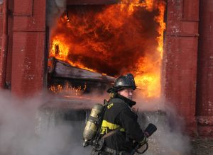 St. Louis firefighters battle four alarm fire in warehouse