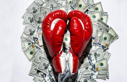 Boxing gloves money