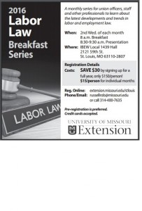 Labor Law Breakfast ad
