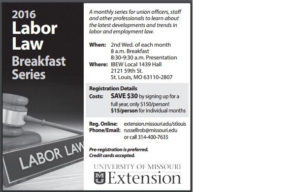 Labor Law Breakfast ad