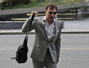 St. Louis Rams owner Stan Kroenke arrives at a hotel where NFL meetings are taking place in New York, Tuesday, Oct. 7, 2014. (AP Photo/Seth Wenig)