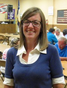 KATIE STUART at a recent meeting of the Greater Madison County Federation of Labor. – Labor Tribune photo