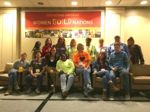 ST. LOUIS STRONG: At least 25 St. Louis-area tradeswomen attended this year's Women Build Nations Conference, which was held in Chicago. – Missouri Women in Trades photo