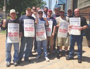 Strikers at General Metals