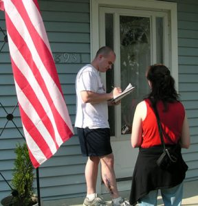 UNION VOLUNTEERS are desperately needed to canvass fellow union members to urge them to vote for worker-friendly candidates – Democrats and Republicans – in the Primary Election Aug. 2.