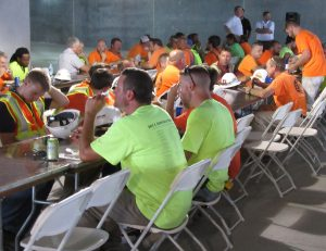 WE APPRECIATE YOU: About 110 union tradesmen and women working on The Heights at Manhassett were honored with a catered luncheon at the new Richmond Heights development for their investments in the project. – Labor Tribune photo