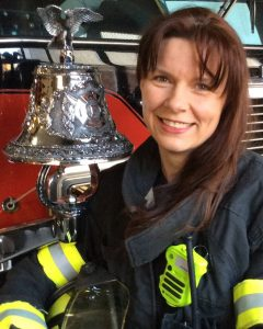UNION ADVOCATE Jen Stuhlman's interest in the Labor community began at an early age when she attended North County Labor Club meetings as a child with her dad, a third generation pipefitter. Today, she is the political director of IAFF Local 2655 and a field rep for IAFF District 2.