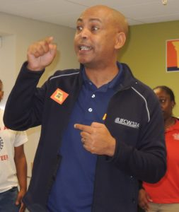 AFL-CIO Executive Vice President Tefere Gebre said Missouri's voter photo ID amendment, Amendment 6, is about making it harder for previously eligible voters to cast a ballot. - Labor Tribune photo