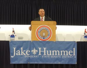 """ON THE CAMPAIGN TRAIL: House Minority Floor Leader Jake Hummel (IBEW Local 1), is the Democratic candidate for Missouri's 4th District Senate seat. Hummel, the secretary-treasurer of the Missouri AFL-CIO led efforts to sustain Gov. Nixon's vetoes on anti-worker legislation like so-called """"right-to-work"""" and paycheck deception, despite facing a Republican supermajority in the House. – Labor Tribune photo"""