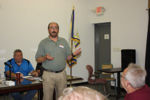 "RICHARD ORR, a candidate for State Rep, 23rd District visited the Tri-County Labor Club recently to discuss the need to beat so-called ""right-to-work"" in Missouri. – Labor Tribune photo"