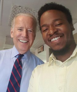 RECENT BUD (Building Union Diversity) graduate Eric Green had an opportunity to meet Vice President Joe Biden during the V.P.'s recent visit to St. Louis. Biden was familiar with the BUD program and offered Green some words of encouragement. – Eric Green photo